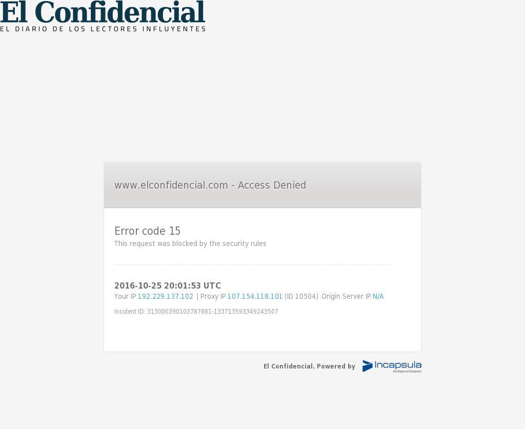 El Confidencial at Tuesday Oct. 25, 2016, 8:03 p.m. UTC