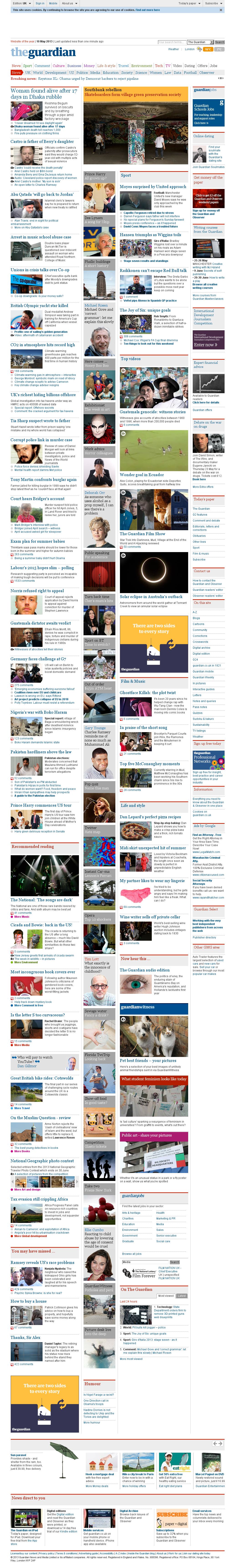 The Guardian at Friday May 10, 2013, 5:10 p.m. UTC