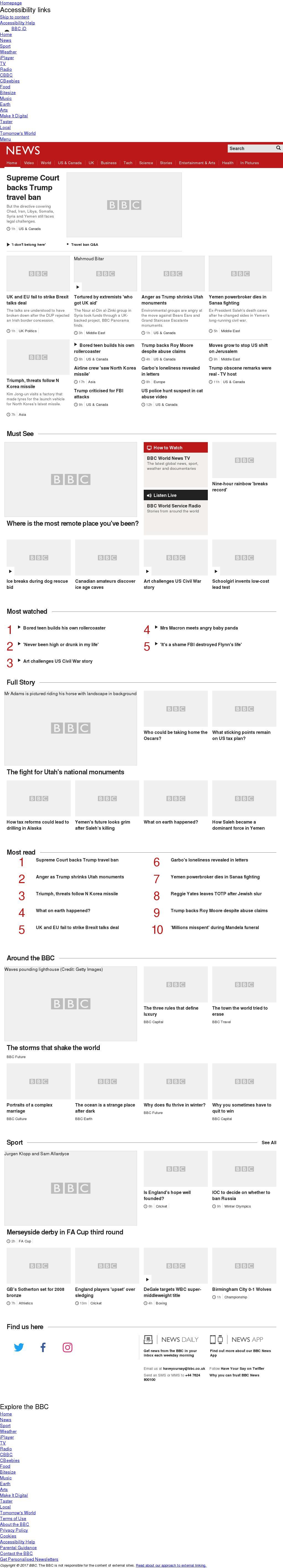 BBC at Tuesday Dec. 5, 2017, midnight UTC