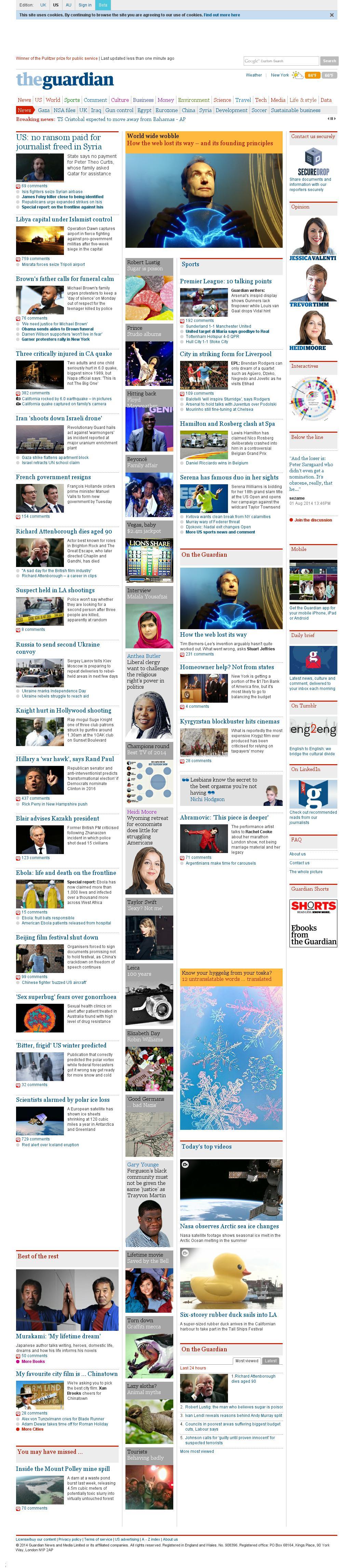 The Guardian at Monday Aug. 25, 2014, 10:09 a.m. UTC