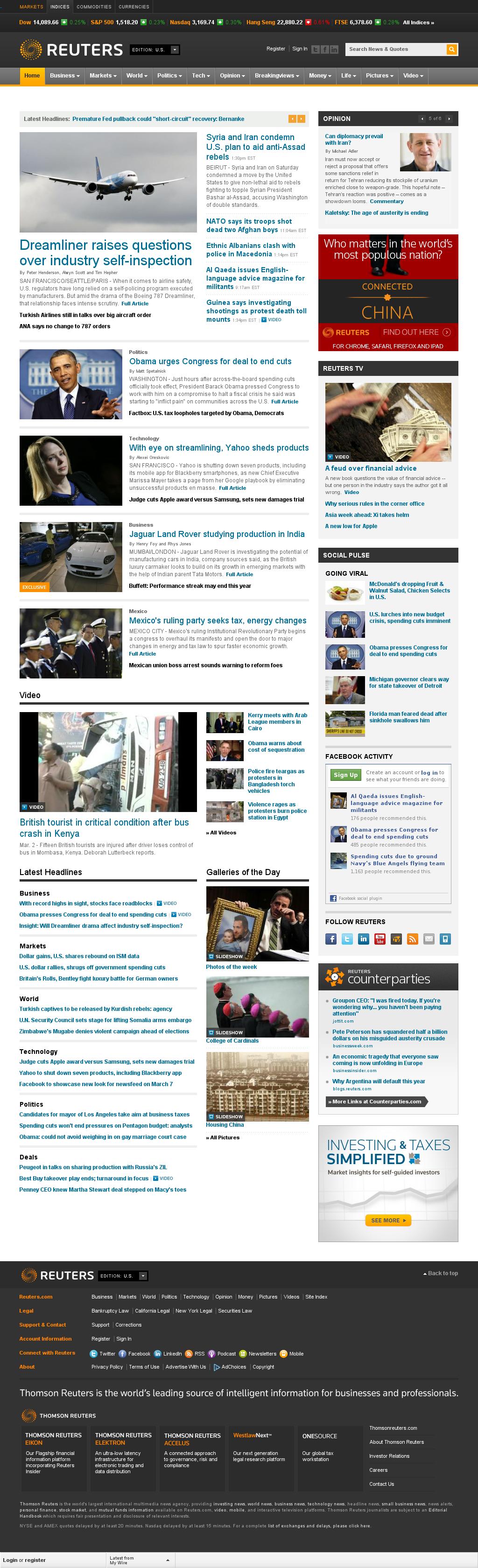 Reuters at Saturday March 2, 2013, 7:17 p.m. UTC