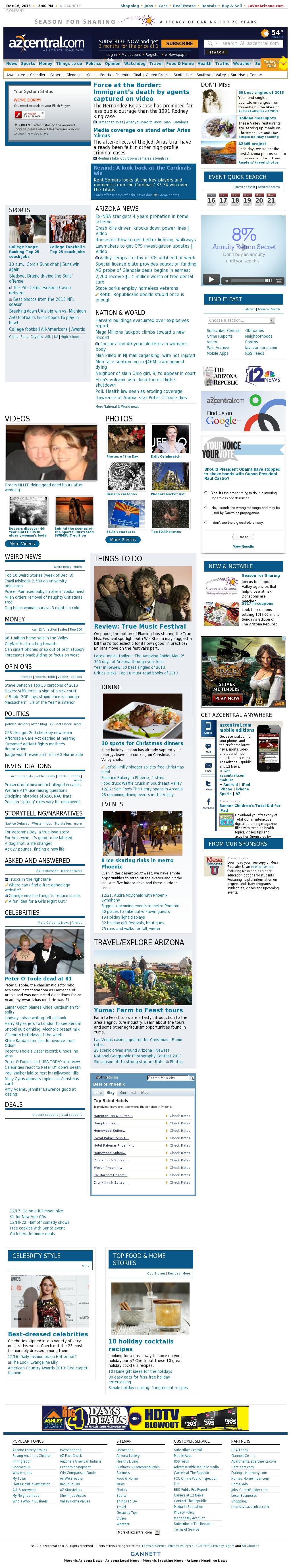 azcentral.com at Monday Dec. 16, 2013, 5 p.m. UTC
