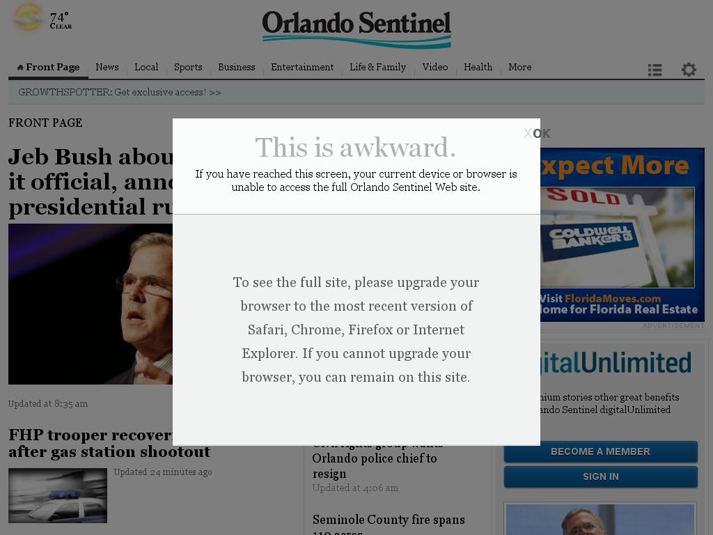 Orlando Sentinel at Monday June 15, 2015, 10:18 a.m. UTC