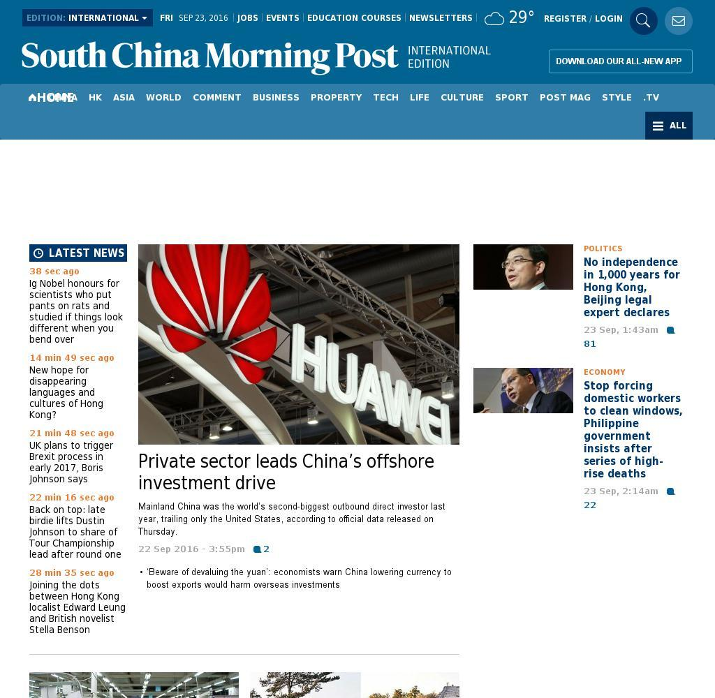 South China Morning Post