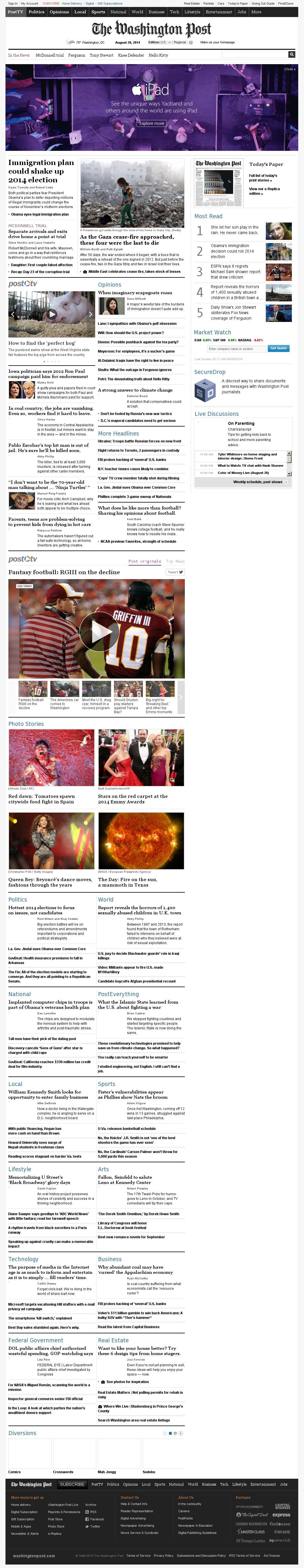 The Washington Post at Thursday Aug. 28, 2014, 6:23 a.m. UTC