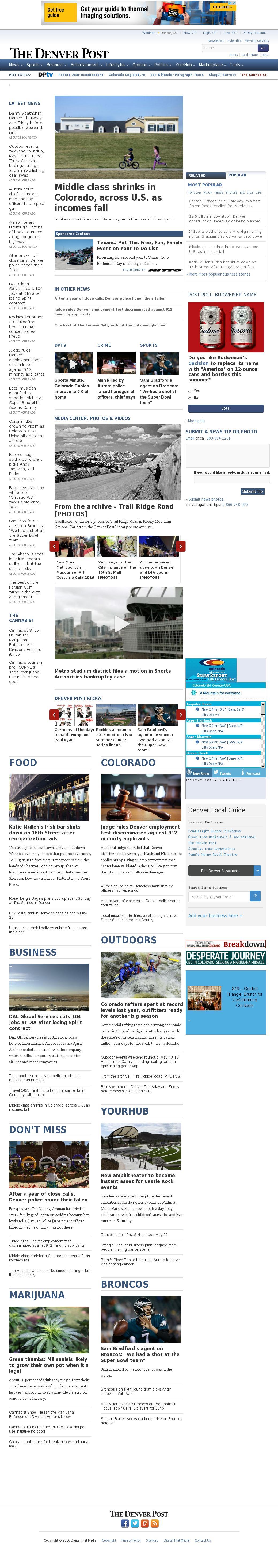 Denver Post at Thursday May 12, 2016, 10:04 p.m. UTC