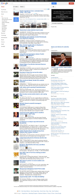 Google News: U.S. at Saturday May 18, 2013, 1:09 a.m. UTC