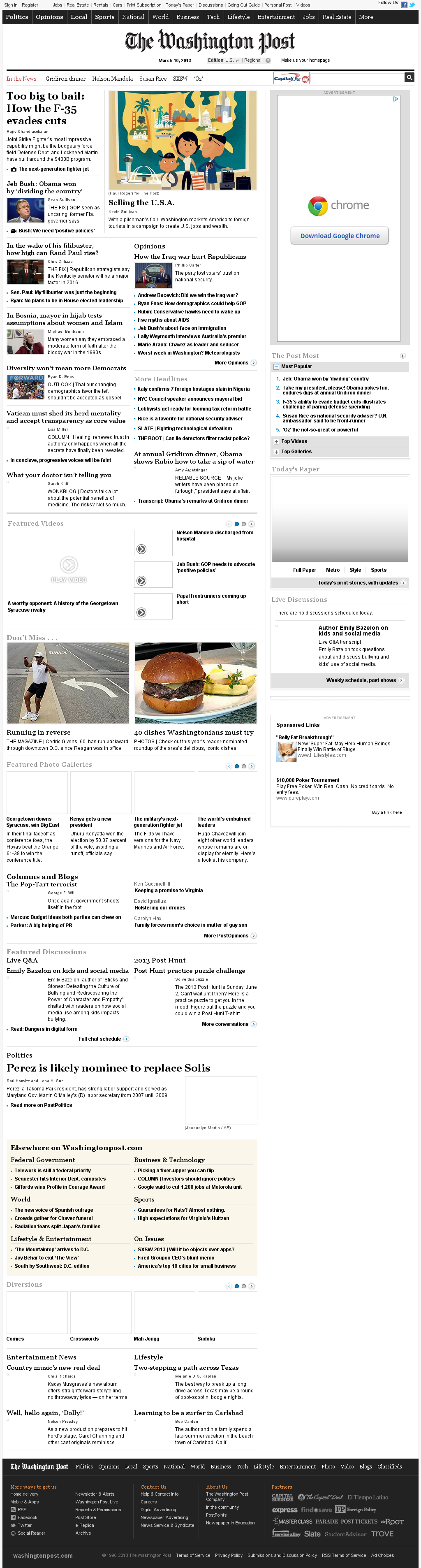 The Washington Post at Sunday March 10, 2013, 7:25 p.m. UTC